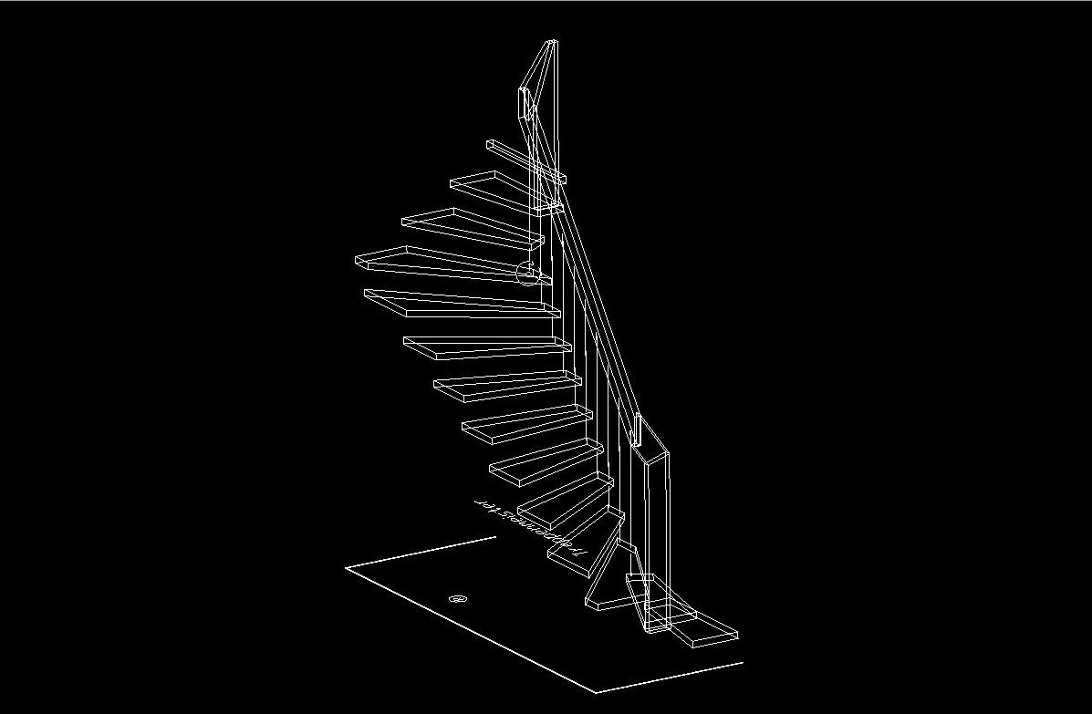 arcus treppen cad daten. Black Bedroom Furniture Sets. Home Design Ideas