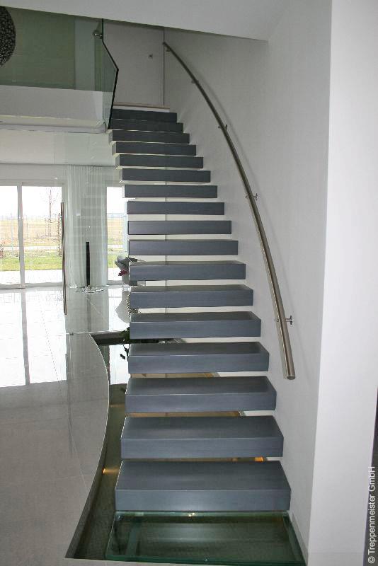Kragarmtreppen Moderne Freitragende Treppen Arcus Treppenbau